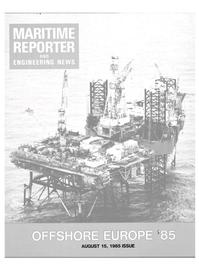 Maritime Reporter Magazine Cover Aug 12, 1985 -