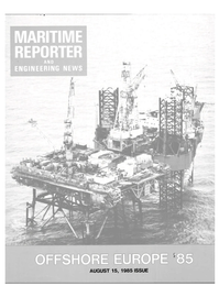Maritime Reporter Magazine Cover Aug 15, 1985 -