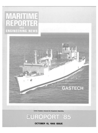 Maritime Reporter Magazine Cover Oct 15, 1985 -