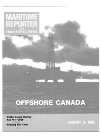 Maritime Reporter Magazine Cover Jan 15, 1986 -