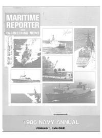 Maritime Reporter Magazine Cover Feb 1986 -