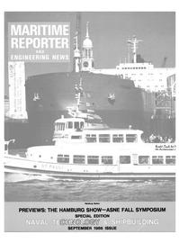 Maritime Reporter Magazine Cover Sep 1986 -