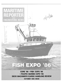 Maritime Reporter Magazine Cover Oct 1986 -