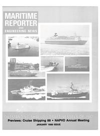 Maritime Reporter Magazine Cover Jan 1988 -