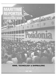 Maritime Reporter Magazine Cover May 1988 -