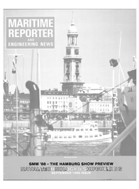 Maritime Reporter Magazine Cover Sep 1988 -