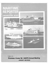 Maritime Reporter Magazine Cover Jan 1989 -