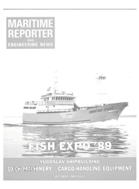 Maritime Reporter Magazine Cover Oct 1989 -