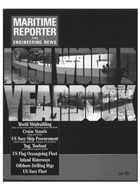 Maritime Reporter Magazine Cover Jun 1991 -