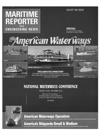 Maritime Reporter Magazine Cover Aug 1991 -