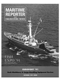 Maritime Reporter Magazine Cover Oct 1991 -