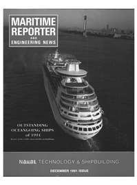 Maritime Reporter Magazine Cover Dec 1991 -