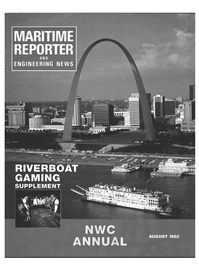Maritime Reporter Magazine Cover Aug 1992 -