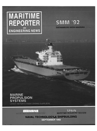 Maritime Reporter Magazine Cover Sep 1992 -