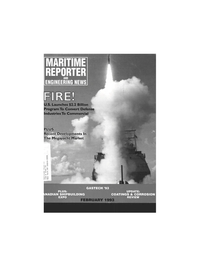 Maritime Reporter Magazine Cover Feb 1993 -