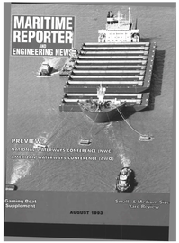 Maritime Reporter Magazine Cover Aug 1993 -