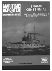 Maritime Reporter Magazine Cover Sep 1993 -