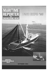 Maritime Reporter Magazine Cover Oct 1993 -