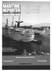 Maritime Reporter Magazine Cover Dec 1993 -