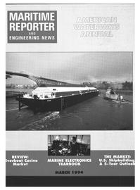 Maritime Reporter Magazine Cover Mar 1994 -
