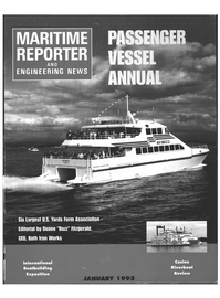 Maritime Reporter Magazine Cover Jan 6, 1995 -