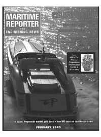 Maritime Reporter Magazine Cover Feb 1995 -