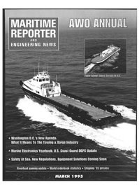 Maritime Reporter Magazine Cover Mar 1995 -