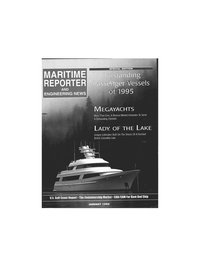 Maritime Reporter Magazine Cover Jan 1996 -