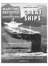 Maritime Reporter Magazine Cover Dec 1996 -