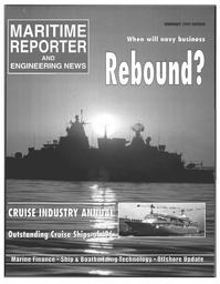 Maritime Reporter Magazine Cover Feb 1997 -