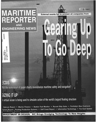Maritime Reporter Magazine Cover Apr 1998 -
