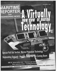 Maritime Reporter Magazine Cover Sep 1998 -
