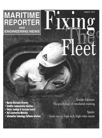 Maritime Reporter Magazine Cover Mar 1999 -
