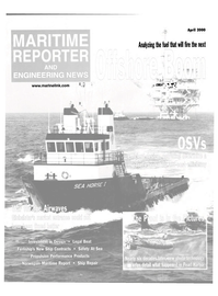 Maritime Reporter Magazine Cover Apr 2000 -