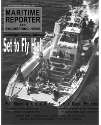 Maritime Reporter Magazine Cover Jan 2001 -