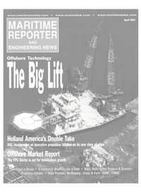 Maritime Reporter Magazine Cover Apr 2001 -