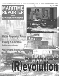 Maritime Reporter Magazine Cover Sep 2001 -