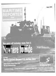 Maritime Reporter Magazine Cover Aug 2002 -