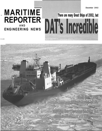 Maritime Reporter Magazine Cover Dec 2002 -