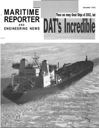Maritime Reporter Magazine Cover Dec 2002 -