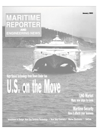 Maritime Reporter Magazine Cover Jan 2003 -