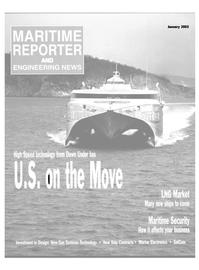 Maritime Reporter Magazine Cover Jan 2003 -