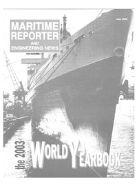 Maritime Reporter Magazine Cover Jun 2003 -