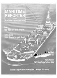 Maritime Reporter Magazine Cover Jul 2003 -
