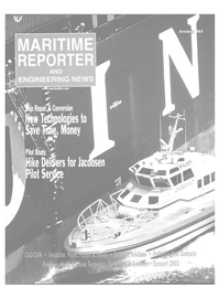 Maritime Reporter Magazine Cover Oct 2003 -