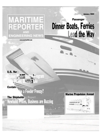 Maritime Reporter Magazine Cover Jan 2004 - Ferry & Passenger Vessel Yearbook