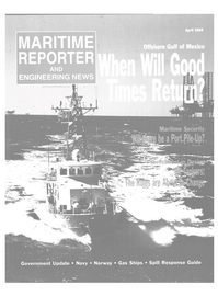 Maritime Reporter Magazine Cover Apr 2004 - Offshore Technology Yearbook