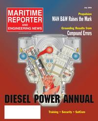 Maritime Reporter Magazine Cover Jul 2005 - The Satellite Communications Edition