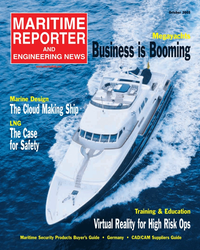 Maritime Reporter Magazine Cover Oct 2005 - The Marine Design Annual