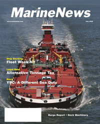 Maritime Reporter Magazine Cover Jul 2006 - The Satellite Communication Edition
